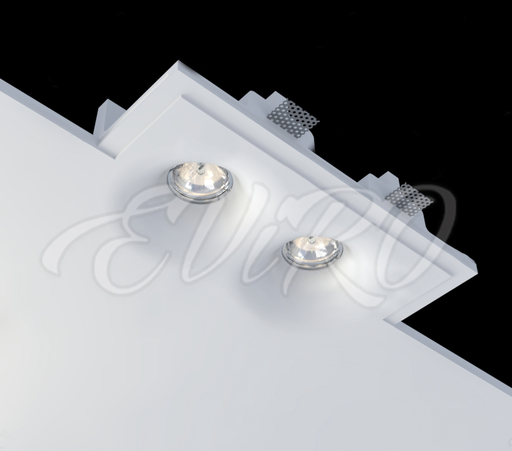 Built-in ceiling lighting fixture EViRO VPS 17 double