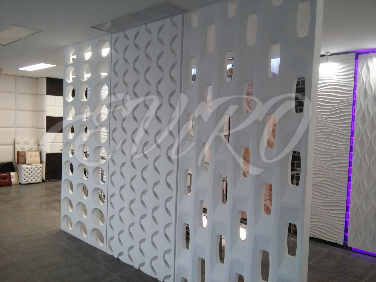 Gypsum 3d partitions EViRO