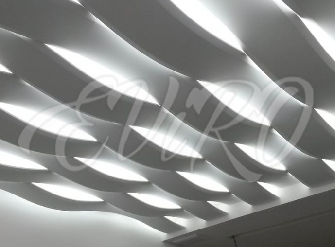 Gypsum 3d panels EViRO with lighting